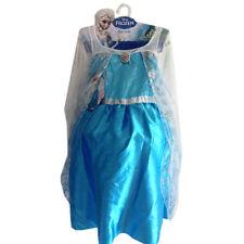 Disney Frozen Snow Queen Elsa Dress Child Girls Costume Size 4-6 Pretend Play NW