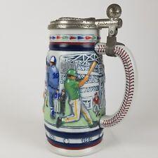 "Avon Ceramarte 1984 Great American Baseball Lidded Ceramic Stein Mug Cup 8.5"""