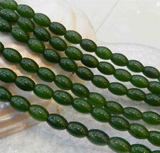 AA 8x12mm Natural Green Emerald Gemstone Rice-shaped Loose Beads 15""
