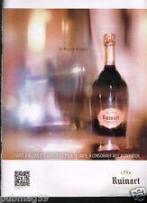 Publicité advertising 2013 Le Champagne Ruinart Rosé