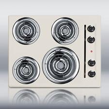 "New in Box Bisque 24"" Elec 4 Burner Cooktop SurfaceUnit"