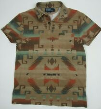 Ralph Lauren Polo shirt Small Aztec South Western Navajo short sleeve pre owned