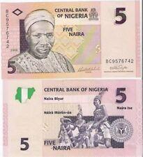 NIGERIA 5 NAIRA 2006 P 32 TRIBAL MUSIC UNC