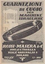 Z3428 Guarnizioni di cuoio - Rossi Masera - Pubblicità d'epoca - 1922 vintage ad
