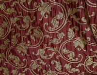 Designer Brocade Jacquard Floral Fabric 54 wide, sold by yard, Burgundy/gold
