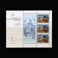 PORTUGAL - AZORES, Sc #333a, MNH, 1982, S/S,  Europa, Ships, Horses, CL140F