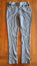 Max Women's Stretch Grey with PVC trim pants sz12UK BNWT free post E18