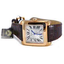 Authentic Rotary Mens Automatic Watch Leather Strap GSA00004-21 Swiss Rose Gold
