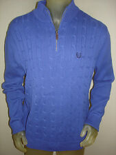 NWT $75 Chaps Blue Half Zip Sweater Mens Small S