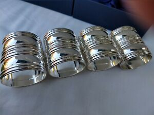 8 Vintage Silver Plate Napkin Rings - 12 available