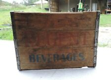 Antique Advertising Wood Crate, Lg Regent Soda Pop Bottle Box Pittsburgh Pa (VE)