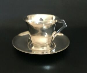 Christofle/Gallia Tea Cup and Saucer by Sue & Mare – Art Deco 1920's