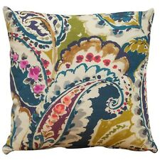Paisley Print Cushion. Abstract Multicoloured Traditional Classic Vintage Design