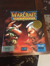 Warcraft Orcs And Humans 1994 MS-DOS 4 Disk Set With Manual And Note Pad