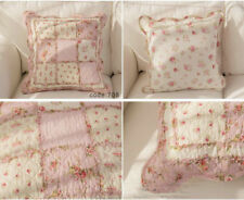 1 PC French Country Cushion Cover Pillow Cover Floral Shabby Chic Check Style