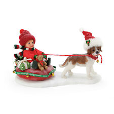 Dept 56 Possible Dreams Christmas Tubing With Dog New 2020 6005270