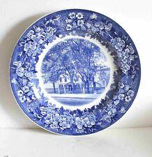 Vintage Wedgwood England Plate Wadsworth-Longfellow Home Portland Maine Free Sh