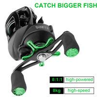 12+1BB Spinning Bass Fishing Reel 8KG Drag Max Baitcast Reel 8.1:1 Left & Right