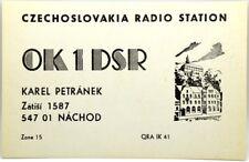 Cartolina QSL Radioamatori Czechoslovakia Radio Station Nachod 1984