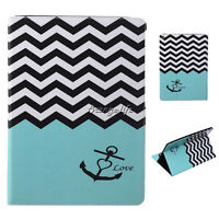 PU Leather Case Smart Cover Stand Card Pouch Flip Shockproof For Apple iPad All