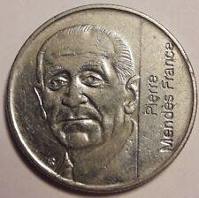 FRANCE 5 Francs 1992 PIERRE MENDES FRANCE 29mm TTB