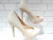 CLEARANCE Ladies Dorothy Perkins Nude Patent Platform Court Shoes UK 4 EURO 37