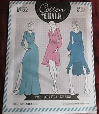 Olivia Dress Sewing Pattern Cotton&Chalk Sizes 6-20 Simply Sewing Magazine Uncut