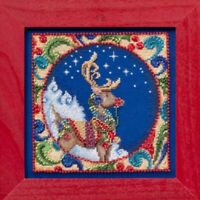 Reindeer Bead Cross Stitch Kit Mill Hill 2014 Jim Shore Winter JS30-4101