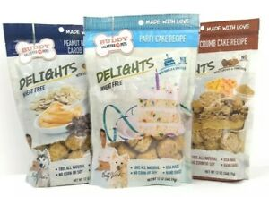 Delights Baked Goods Birthday Cake/Peanut Butter/Crumb Cake Biscuits Dog Treats
