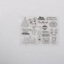 Christmas Deer Transparent Silicone Stamp for DIY Scrapbooking Photo Album LE