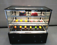 220V Electric Commercial Countertop Refrigerated Cake Showcase Bread Products