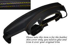YELLOW STITCH DASH DASHBOARD LEATHER SKIN COVER FITS BMW 3 SERIES E36 1992-1998