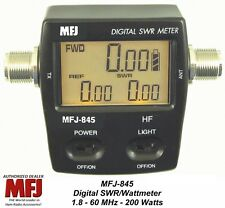 MFJ 845 Digital SWR/Power/Wattmeter HF, 1.8 - 60 MHZ, 200 Watts Mobile/Base