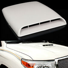Car Decorative Air Flow Intake Hood Scoop Vent Bonnet Cover White Universal USA