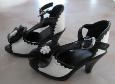 1/3 SD BJD Doll Black And White High Heel Shoes