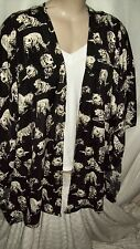 Autograph Black cream TIGER Kimono Sleeve cardi cardgan jumper bolero 24 NEW