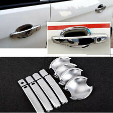 Chrome Door Handle Bowl Cover Cup Overlay Trim For Chevrolet Sail 3 2015 #HC88