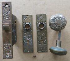 """Antique Bronze """"NASHUA"""" Interior Door Lockset * Doorknobs, Backplates * Mortice"""