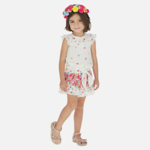 New Mayoral Girls floral chiffon playsuit, Age 2 years (3815)
