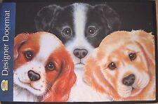 Fiddler's Elbow Designer Doormat Three Puppies by Sue Hall NWT