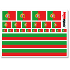 PORTUGAL AUFKLEBER |  FLAGGEN STICKER | HELM FAHRRAD MODELLBAU BOBBYCAR AUTO
