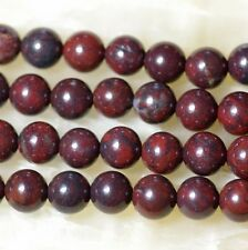 """Natural 10mm Bloodstone Round Loose Beads 15"""""""
