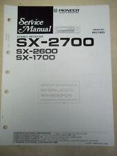 Pioneer Service Manual~SX-2700/2600/1700 Receiver~Original~Repair~w/fiche