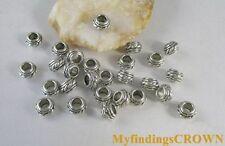 120 pcs Tibetan Silver drum barrel spacer bead FC8256