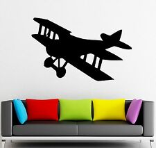 Wall Stickers Vinyl Decal Airplane Plane Aircraft Kids Room Decor (ig817)