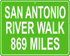 San Antonio River Walk in Texas -distance from your house