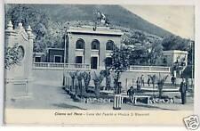 C3225- Savona, Cisano sul Neva, casa del Fascio e piazza S. Giovanni,  1933