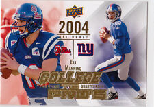 ELI MANNING Ole Miss 2004 NFL DRAFT INSERT Card NY GIANTS Football #1 Pick LE