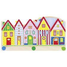 Kinder - Garderobe Garderobenhaken KLEINE STADT Häuser Dorf GOKI