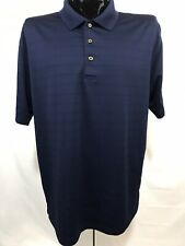 Grand Slam Mens Polo Shirt Xl Blue Golf Performance Wicking Polyester S/S